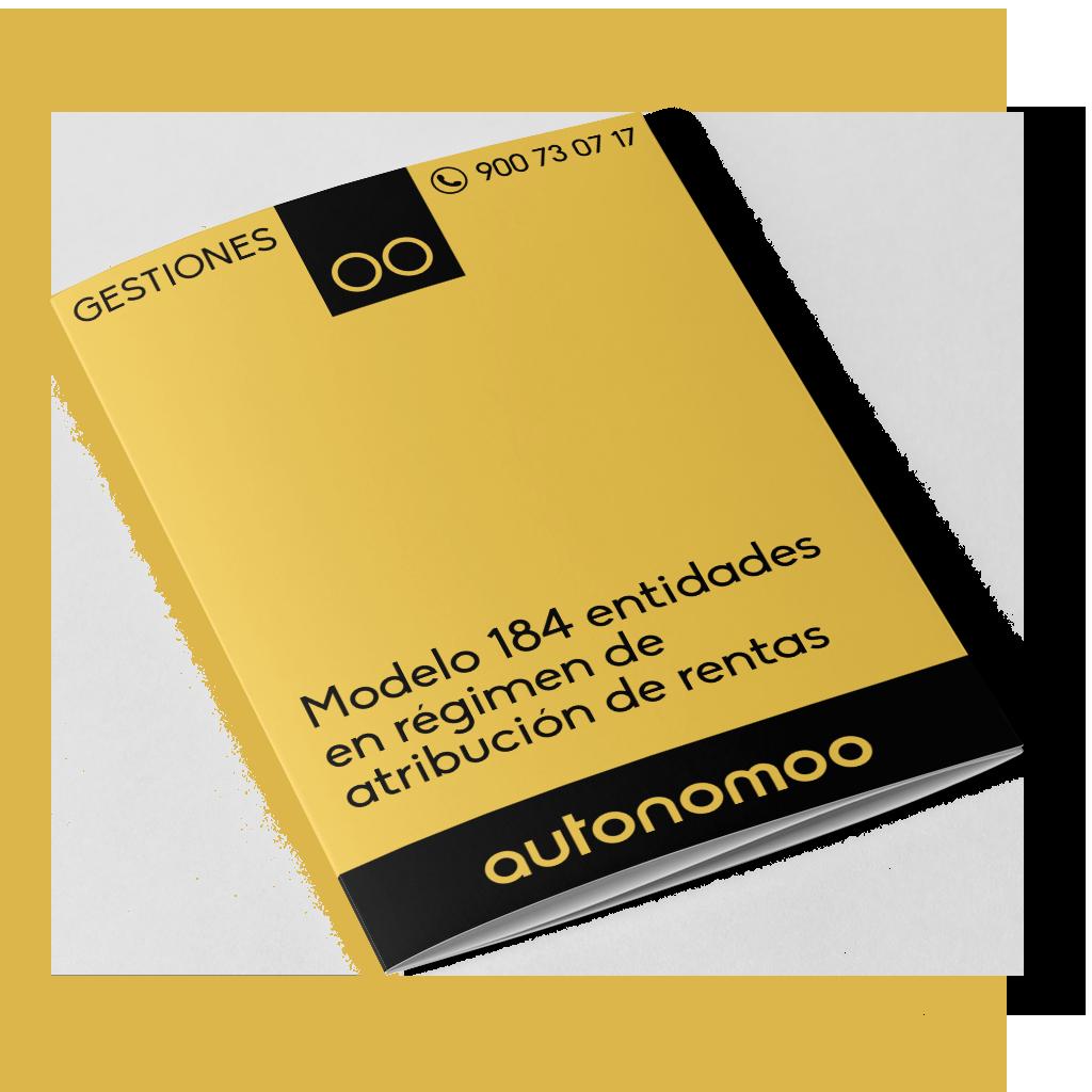 Modelo 184 entidades en régimen de atribución de rentas