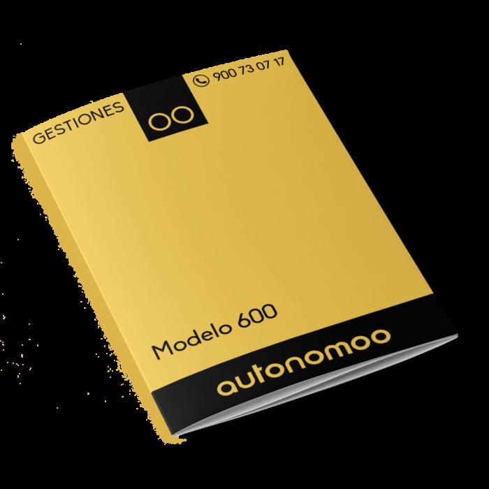modelo 600 elaboración y/o presentación